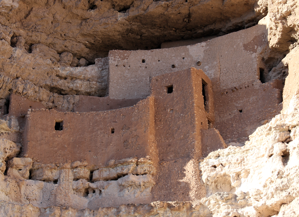 The five-story dwelling in the hole in the wall. Montezuma Castle, outside Camp Verde, AZ.