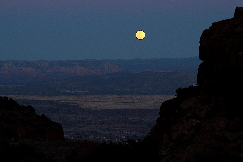 Moonrise outside of Jerome.
