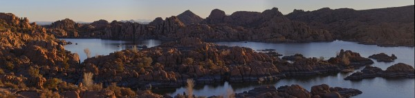 Sunrise at Watson Lake.  The Granite Dells, Prescott, AZ.  Photo a product of HDR exposures and stitching.