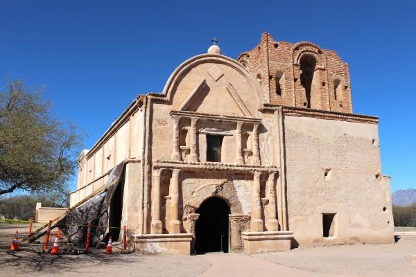 Exterior, San Juan Mission, Tumacácori National Historical Park.