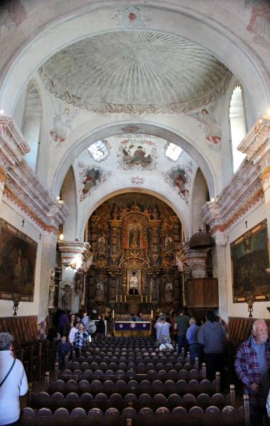 San Xavier Mission, sanctuary.