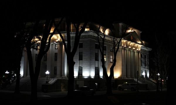 Light study, Yavapai County Courthouse building, downtown Prescott, AZ.