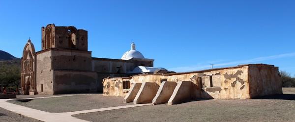 Chapel and priests' quarters, San Juan Mission, Tumacácori National Historical Park.