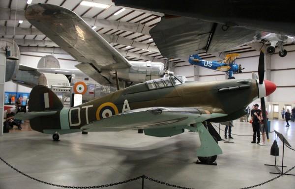 British Hawker Hurricane.