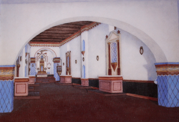 An artist's concept of the sanctuary when it was originally completed.