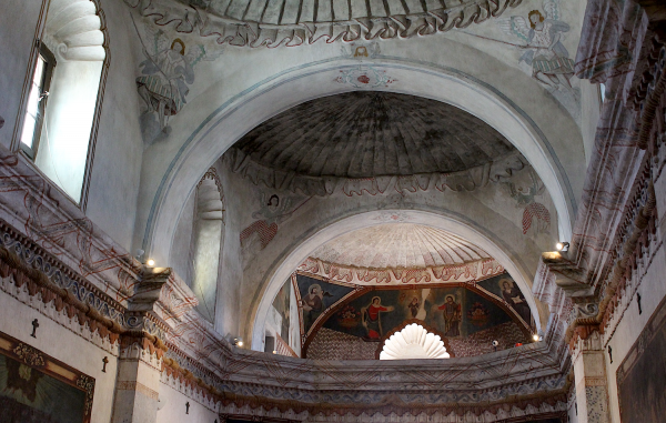 Vaults and balcony, San Xavier del Bac Mission.